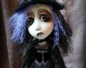 Loopy Southern Gothic Art Doll Victorian Dark Goth Ghostly Witch Adele