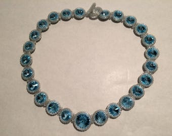 Crystal Circle Beaded Necklace by Lyuda