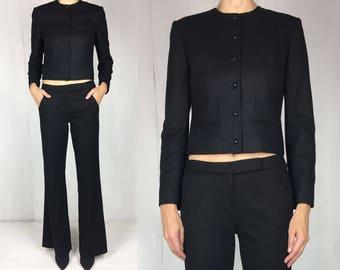 PENDELTON Cropped Black Wool Jacket S