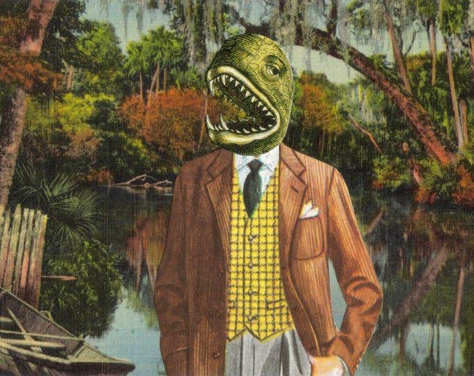 Weird Creature Art Postcard