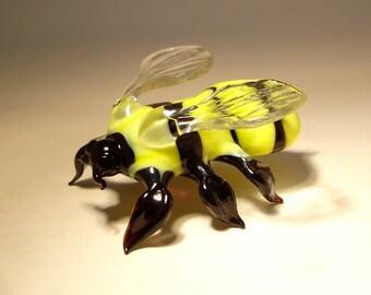 "Blown Glass ""Murano"" Art Animal Figurine Insect BUMBLE Bee"