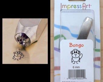 6mm Metal Stamp Tool- Bongo Monkey Leo Lion Gerry Giraffe Poodle Dog
