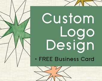 Custom Logo Design - One of a kind logo AND free business card design
