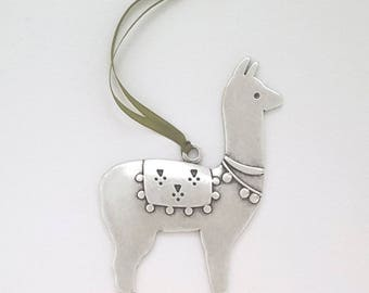 NEW llama ornament