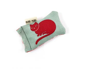Red Cat Green Bean Organic Eco Friendly Catnip Cat Toy For Mew, Gift For Cat Lover