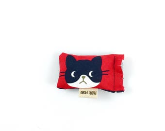 Black And White Cat Green Bean Organic Eco Friendly Catnip Cat Toy For Mew, Gift For Cat Lover