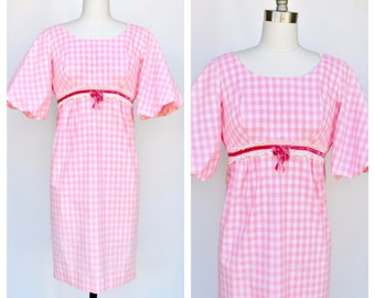 pink gingham picnic dress / small