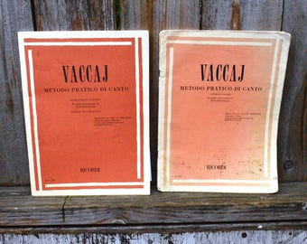 Vaccaj Metodo Practico Di Canti - 120 pages Vintage Sheet Music + CD