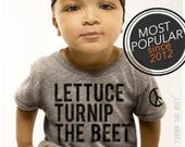 lettuce turnip the beet ® trademark brand OFFICIAL SITE - heather grey track shirt, baseball jersey, or baby bodysuit with classic logo