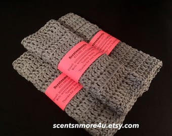 Crochet Dishcloths/Washcloths, Gray