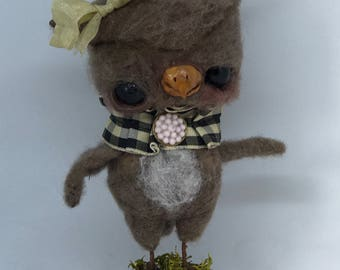 Olivia the OWL Ooak art doll