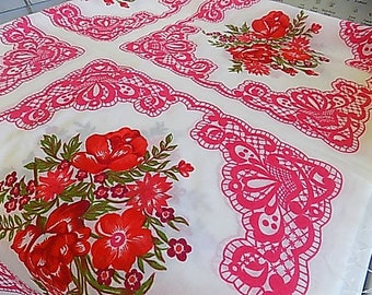 Vintage Cotton Floral Patchwork Style Fabric