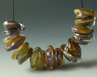 lampwork beadssra helixsilver glass