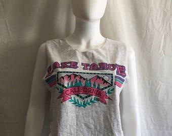 Closing Shop 40%off SALE Lake Tahoe crop half top t shirt tank