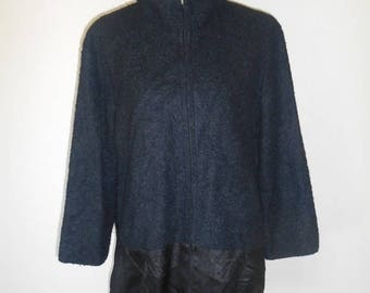 Closing Shop 40%off SALE Black jacket, Asian fabric jacket