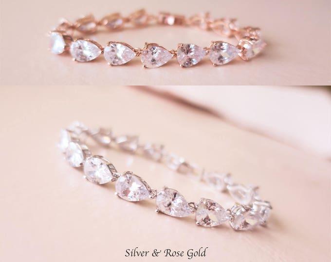 Crystal Wedding Bracelet Art Deco