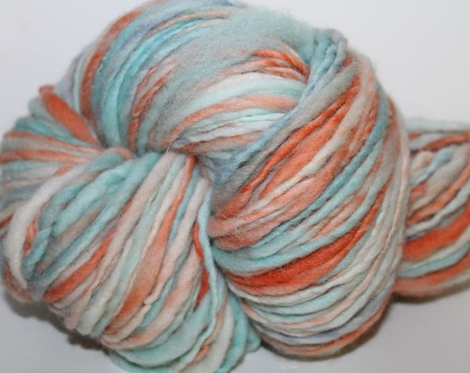 Hand spun Cheviot Wool. Single ply. Hvy Worsted weight. 1/2lb/224 yards. Knit.