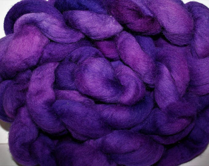 Kettle Dyed Cheviot Wool Top.  Easy to spin.  Great for felting. 1lb. Braid. Spin. Felt. Roving. C111