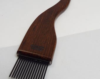 RESERVED for lenalala, Weaving beater, weaving fork, tapestry fork, threadsthrutime, thomas-creations, FINE, COCOBOLO
