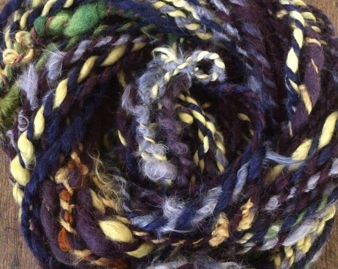 Killer Queen, wild art yarn, 42 yards, non wool textured art yarn, handspun, bulky wild yarn, JUMBO yarn, all natural dyes