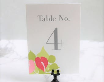 Tropical Wedding Table Numbers - Beach Table Number Cards - Wedding Table Decor - Table Numbers for Weddings - Day Of Decor