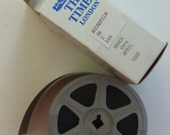 London Times 1889 Microfilm March thru April