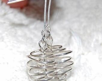 Peppermint Patty Sterling Handmade Earrings