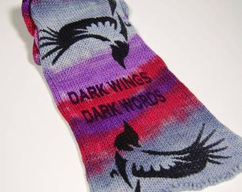 "Game of Thrones Inspired Sock blank - ""Dark Wings Dark Words"" *** Double sock blank**DYED TO ORDER"
