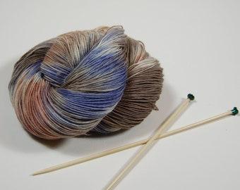 Wonder Sock yarn -  Sand Stone- 465 yards 100 grams- 72/25 Superwash Blueface wool and Nylon