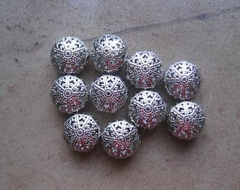 Filigree Beads, Metal Beads, Beads for Enameling, filigree, enameling supplies, enameling, jewelry supplies, filigree, rondelle beads