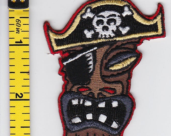 Iron On Patches - Pirate Tiki by Artist REED