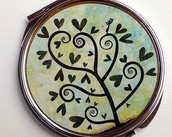 Pocket mirror, the tree spirals MPR106