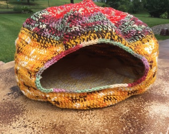 Crocheted Cat Cave Bed