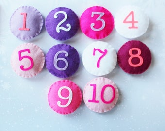 Felt Numbers - Learning to Count - Ready to ship