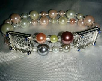 Silver Plated Instant Photo Bracelet, Beautiful bracelet where you add your own