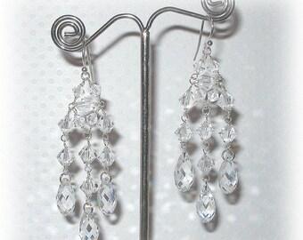 ON SALE 20% OFF Clear Earrings Long Teardrop Cubic Zirconia Dangle Earrings White Crystal Earrings Bridesmaid Gift Hypoallergenic Wedding Je