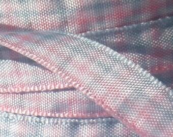Pink & Blue Plaid - May Arts Woven Ribbon