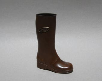 Vintage Salesman Sample Rubber Boot Carriboots Miniature Boot 6.75 Inches High Carrier Shoes Made in Canada
