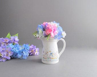 Vintage Large Creamer, Small Pitcher, Cottage Flower Vase, Small Geese Pitcher