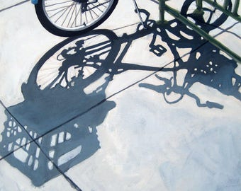 BICYCLE, cycling, bike art print from my original oil painting