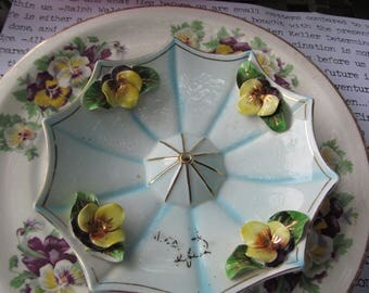 Vintage Pansy China,  2 pieces, 30s, 40s?