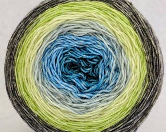Growing Like a Weed Panoramic Gradient, dyed to order - pick your yarn and yardage!