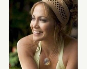 ON-SALE Pineapple Quartz Necklace - Monster in Law Necklace, Jennifer Lopez, Celebrity Inspired, Teardrop Pendant with Black, Sterling Silve