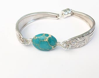 Turquoise Spoon Handle Bracelet