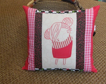 Doll Style Decorative Pillow Cover