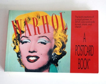 Warhol Postcard Book, Fine Art Reproductions, Modern Art Cards, Running Press, Colorful Art Cards, Marilyn Monroe, Pop Art, Vintage Ephemera