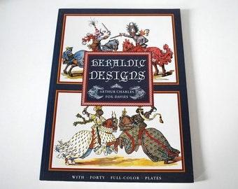 Heraldic Designs Book, Vintage Poster Art Book, Fox-Davies, Medieval Heraldry Art Reference Book, Art Prints, European History