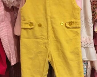 Yellow Corduroy Overalls 6/9 Months