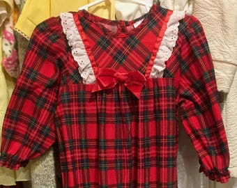 Plaid Night Gown 2/3T
