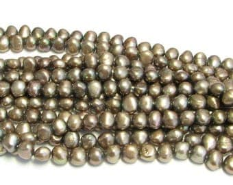 SALE 60% OFF Brown Potato Freshwater Pearls 7mm Full Strand